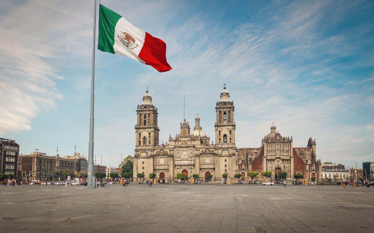 Zocalo place au Mexique
